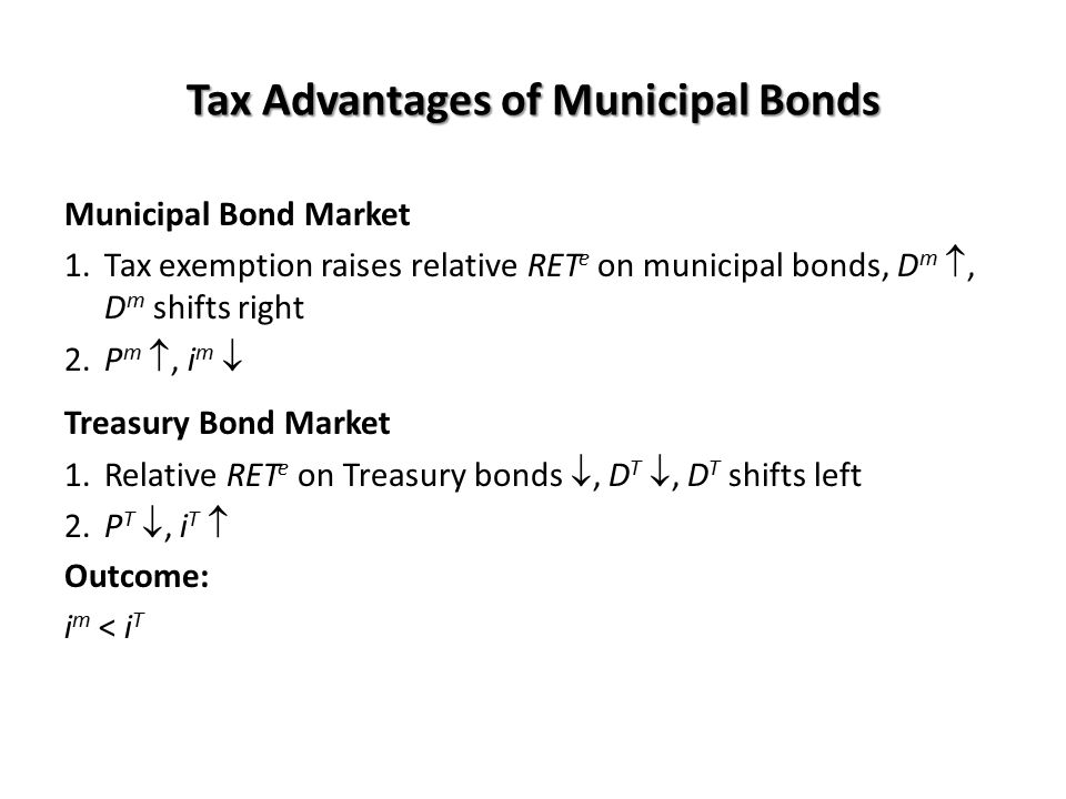 Tax Advantages of Municipal Bonds
