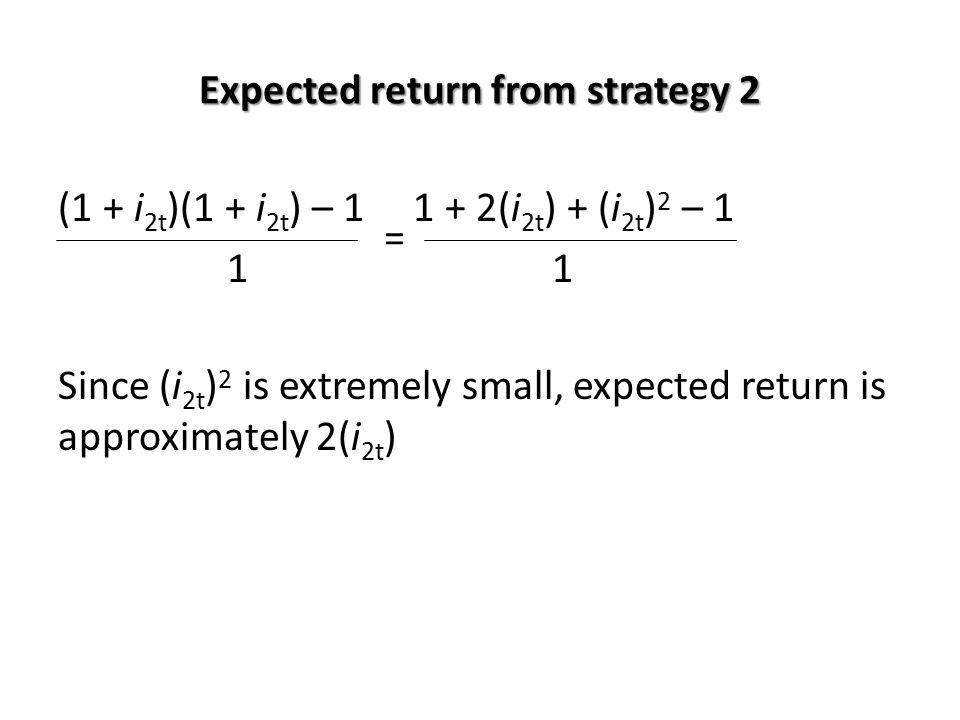Expected return from strategy 2
