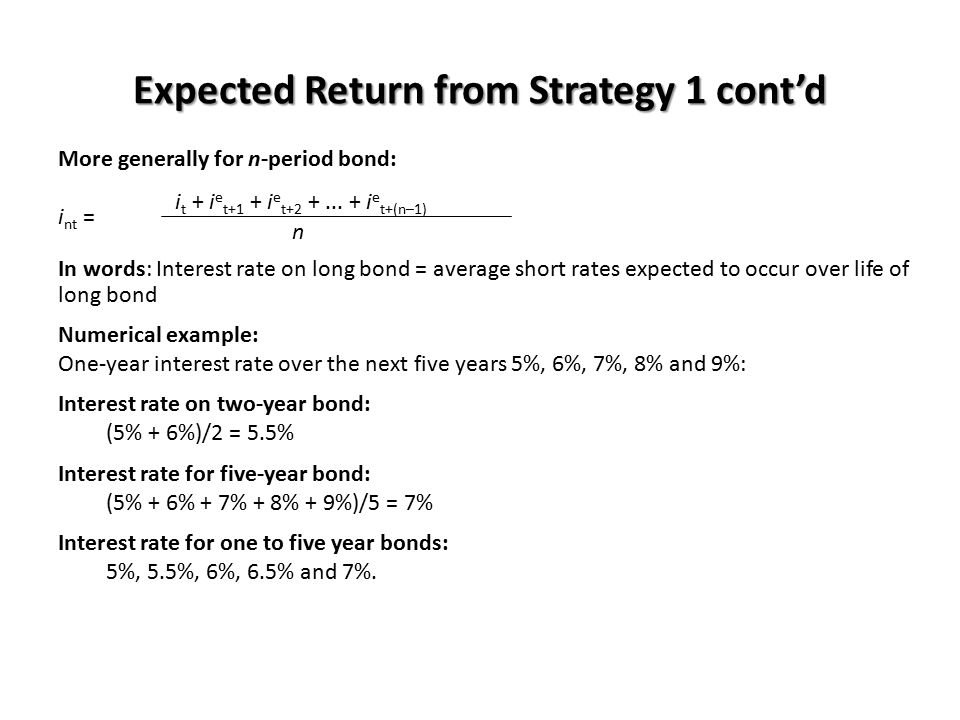 Expected Return from Strategy 1 cont'd