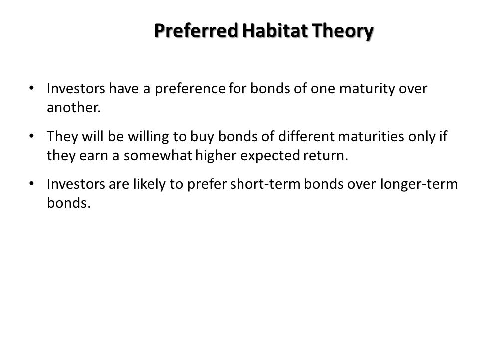 Preferred Habitat Theory