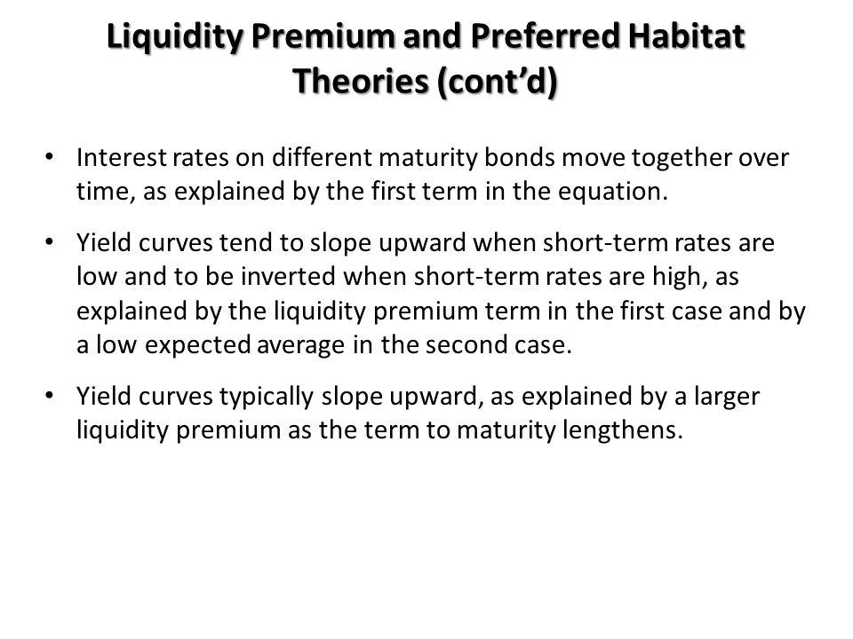 Liquidity Premium and Preferred Habitat Theories (cont'd)