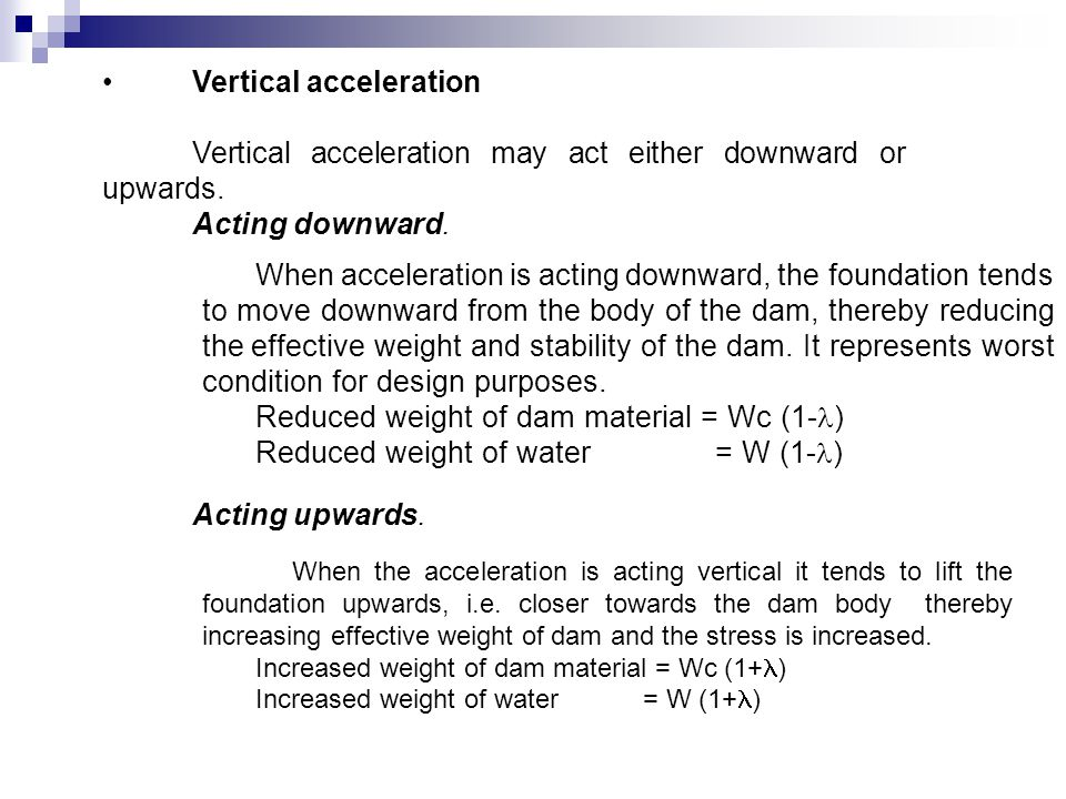 Vertical acceleration