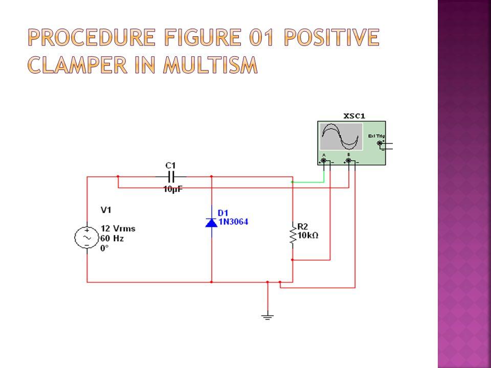 Procedure Figure 01 Positive Clamper in Multism