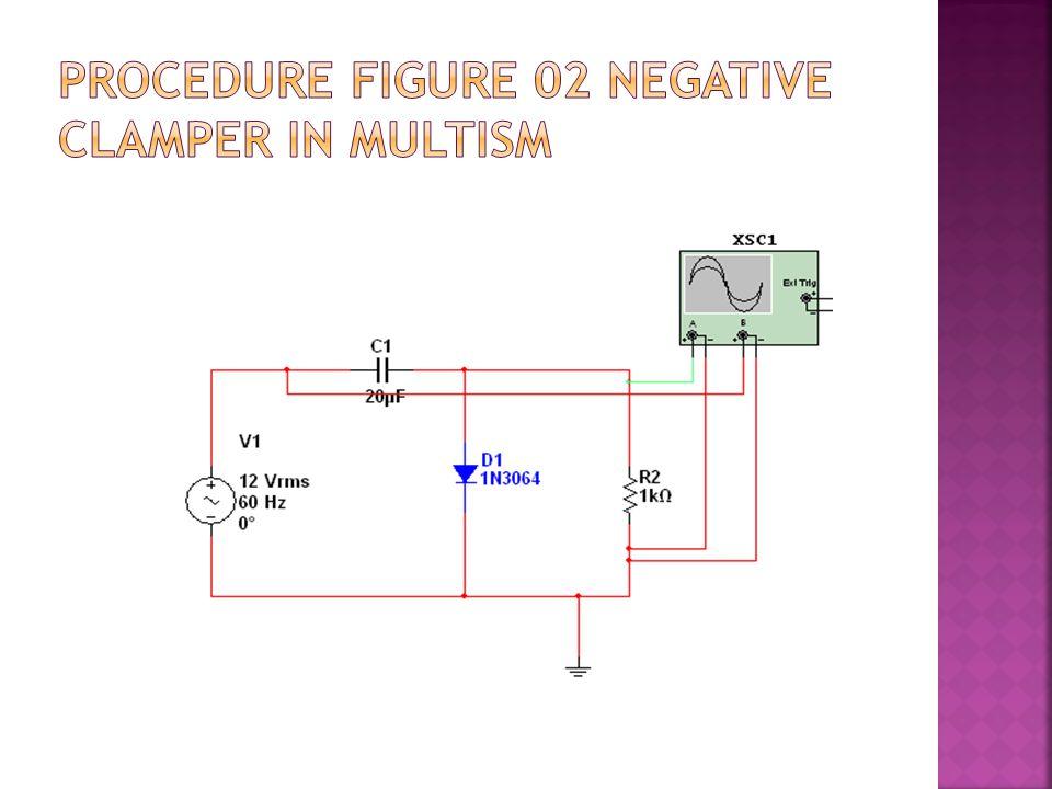 Procedure Figure 02 Negative Clamper in Multism