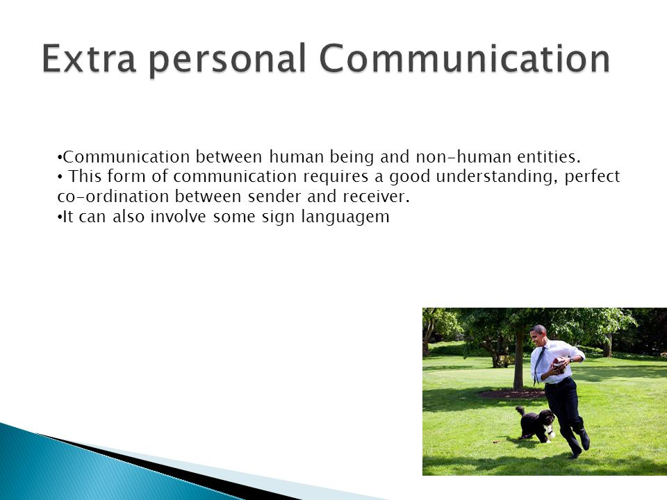 Extra personal Communication