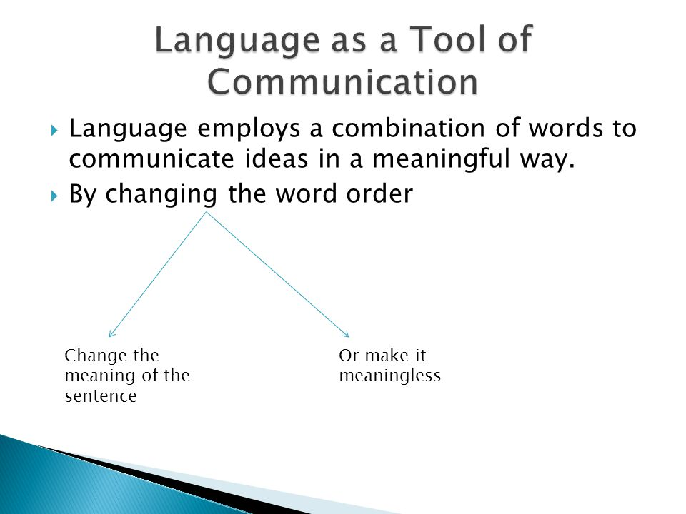 Language as a Tool of Communication