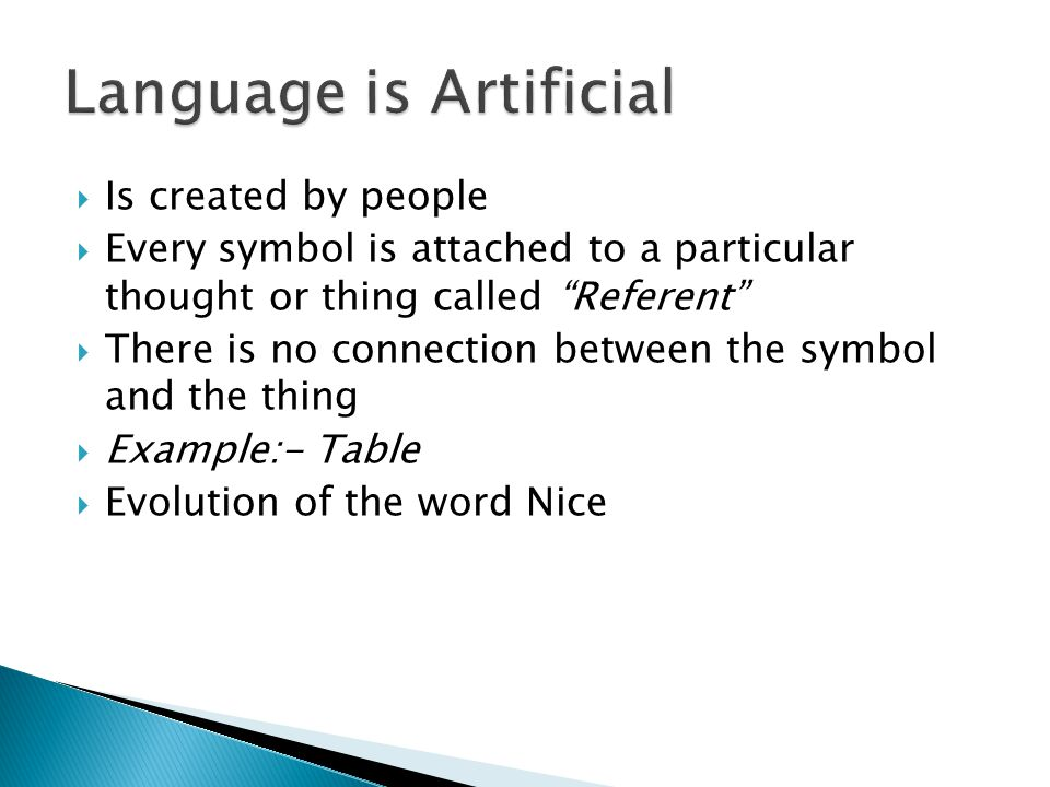 Language is Artificial