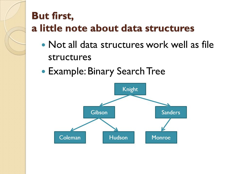 But first, a little note about data structures