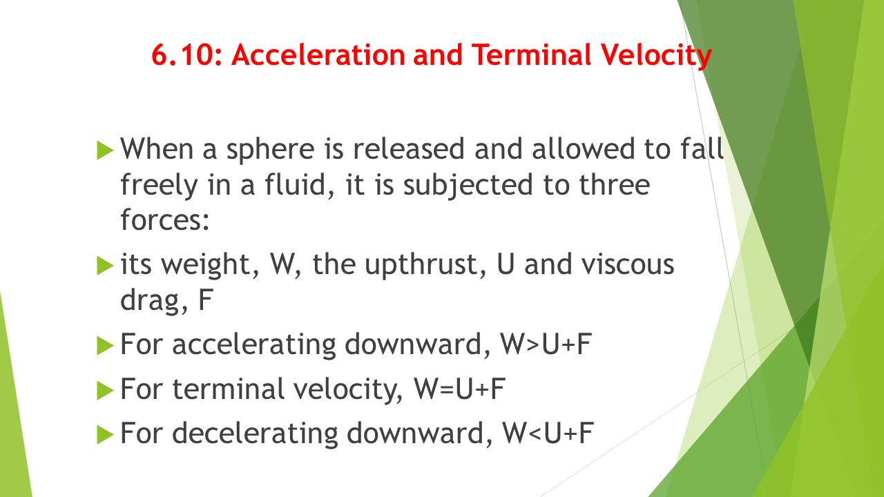 6.10: Acceleration and Terminal Velocity