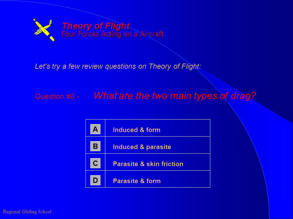 Theory of Flight Four Forces Acting on a Aircraft