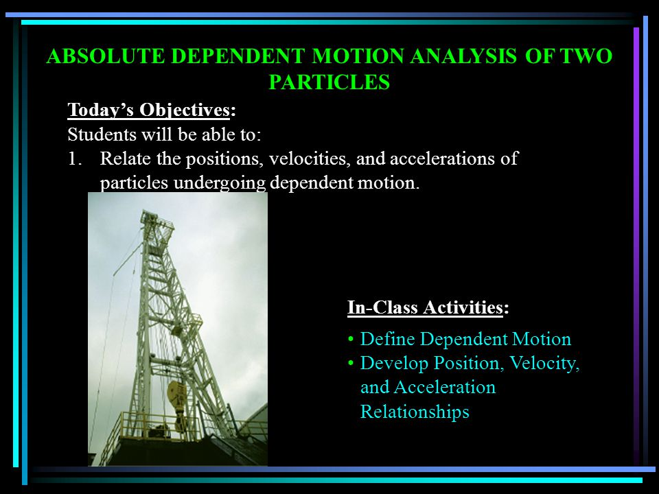 ABSOLUTE DEPENDENT MOTION ANALYSIS OF TWO PARTICLES