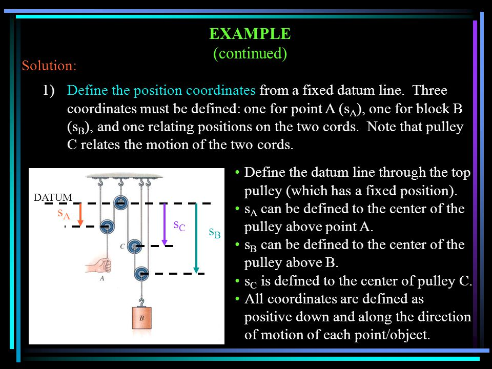 EXAMPLE (continued) Solution: