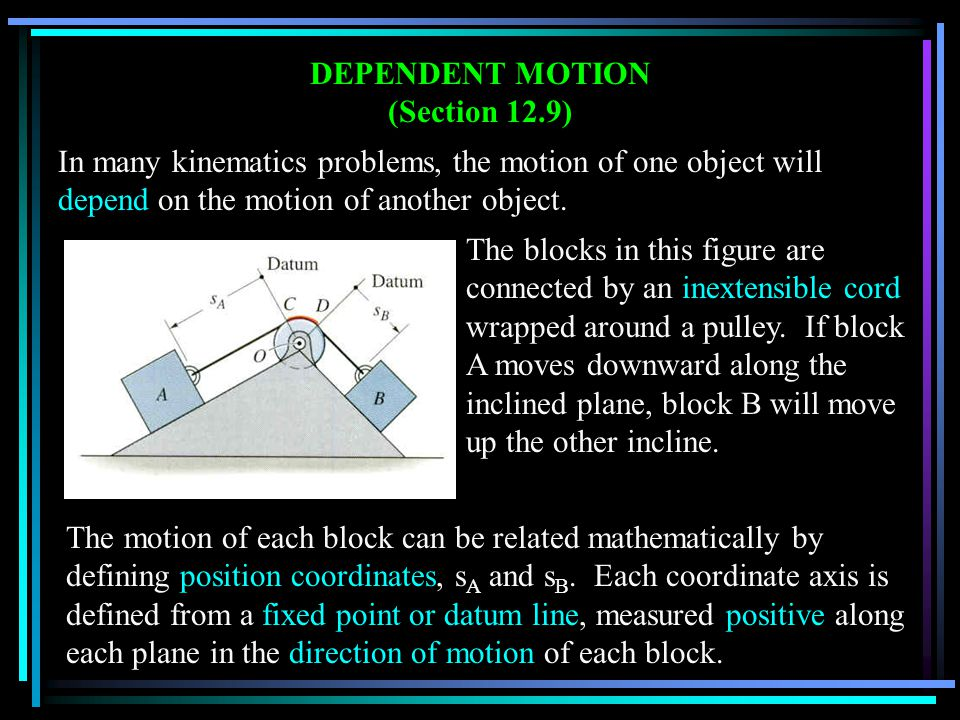 DEPENDENT MOTION (Section 12.9)