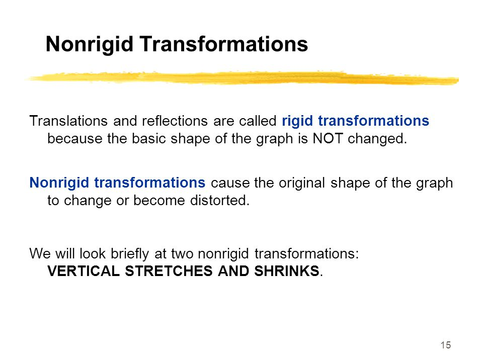 Nonrigid Transformations