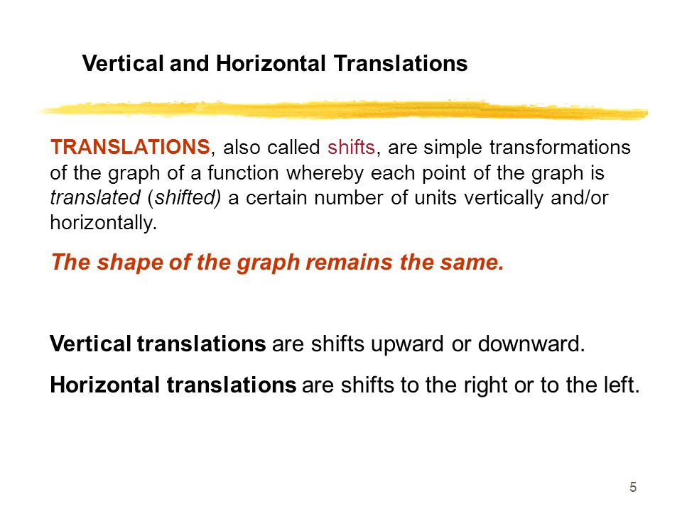 Vertical and Horizontal Translations
