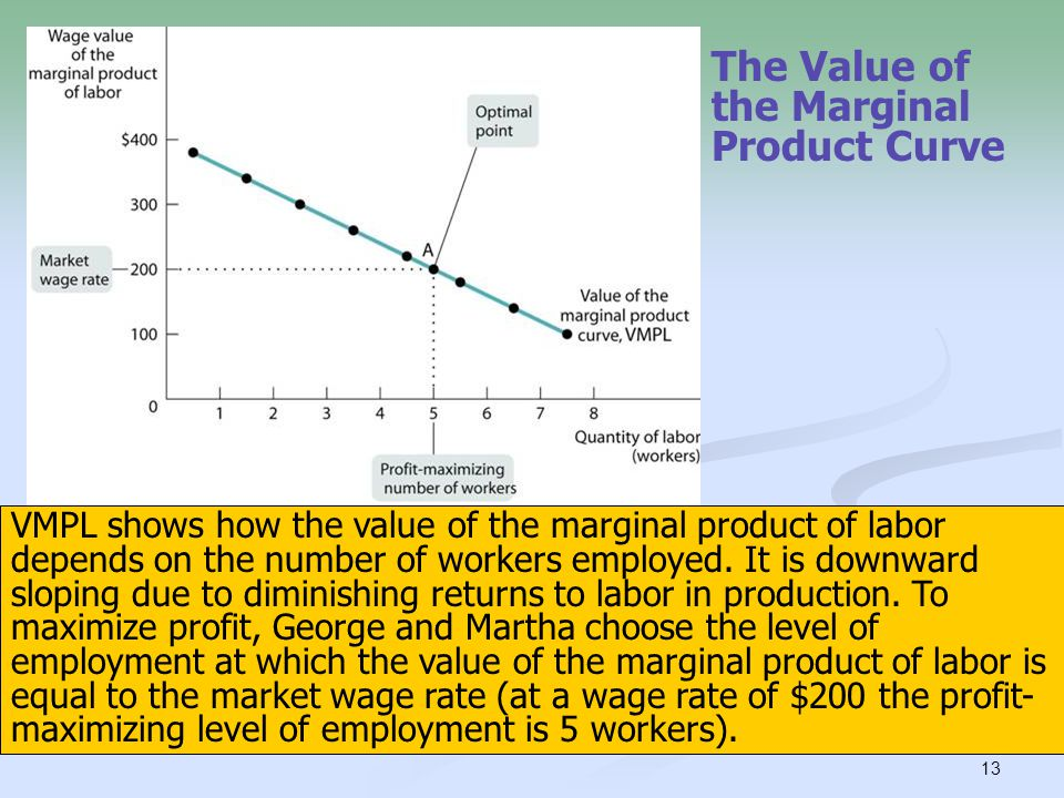 The Value of the Marginal Product Curve