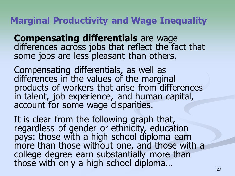 Marginal Productivity and Wage Inequality