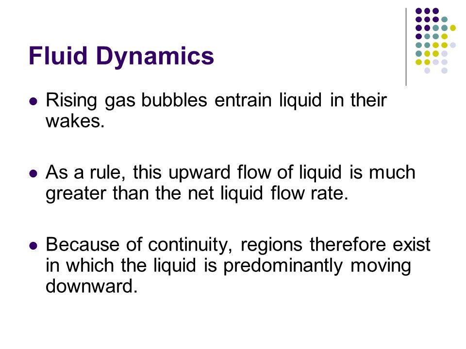 Fluid Dynamics Rising gas bubbles entrain liquid in their wakes.