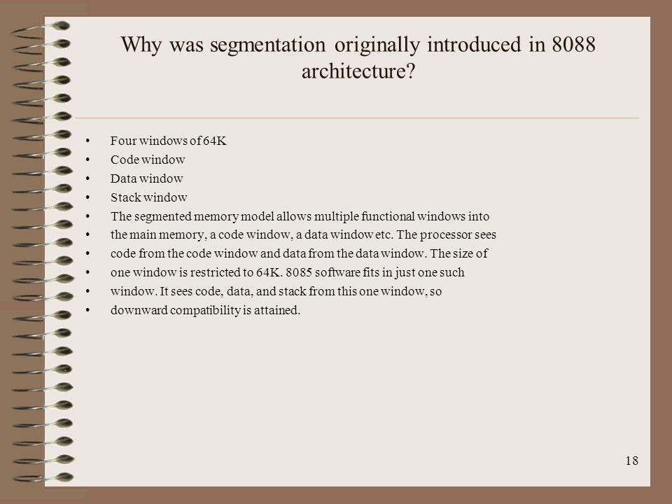 Why was segmentation originally introduced in 8088 architecture