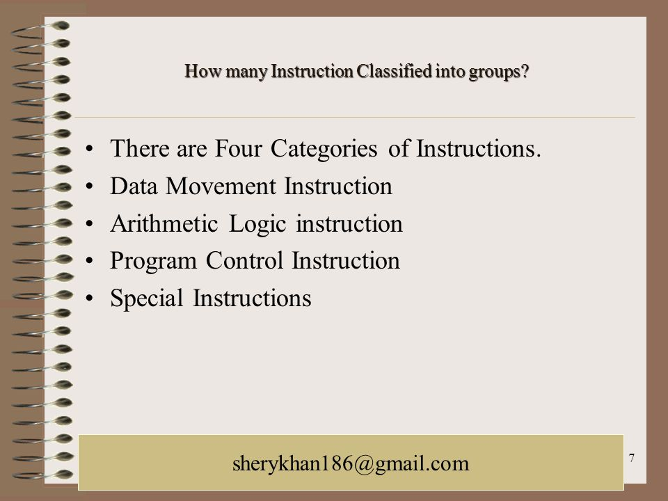 How many Instruction Classified into groups