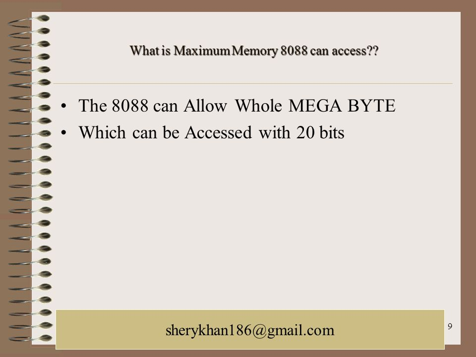 What is Maximum Memory 8088 can access