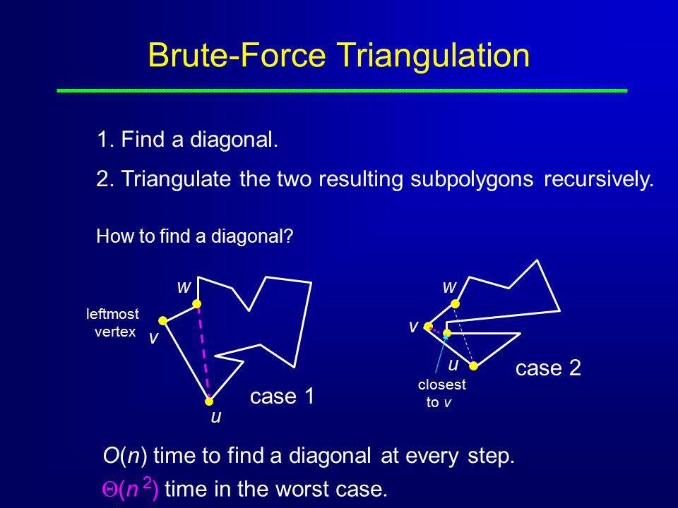 Brute-Force Triangulation