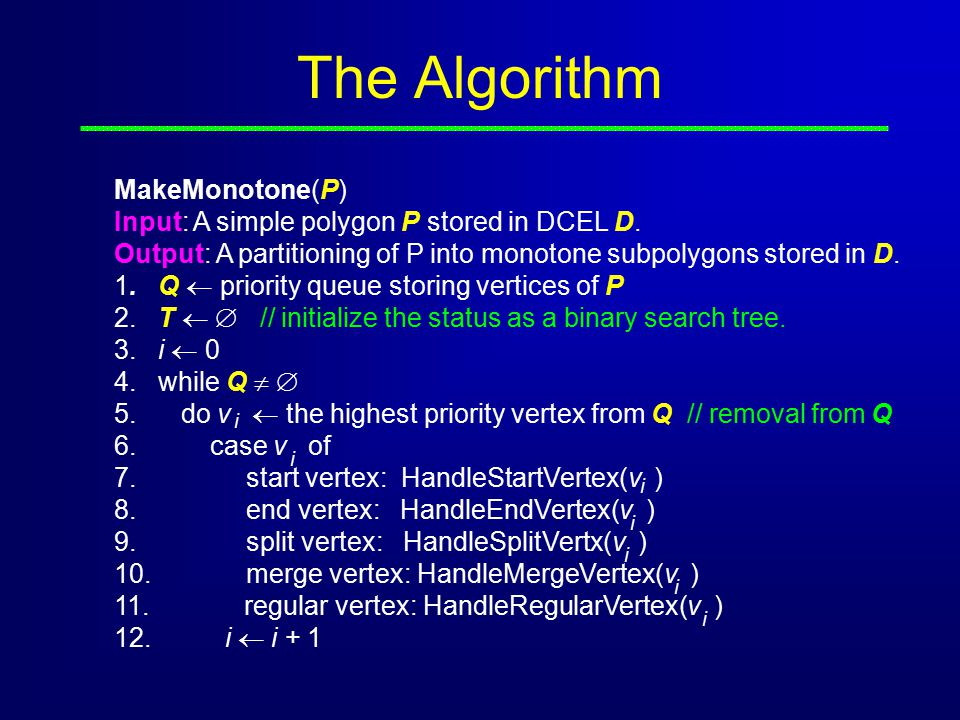 The Algorithm MakeMonotone(P)