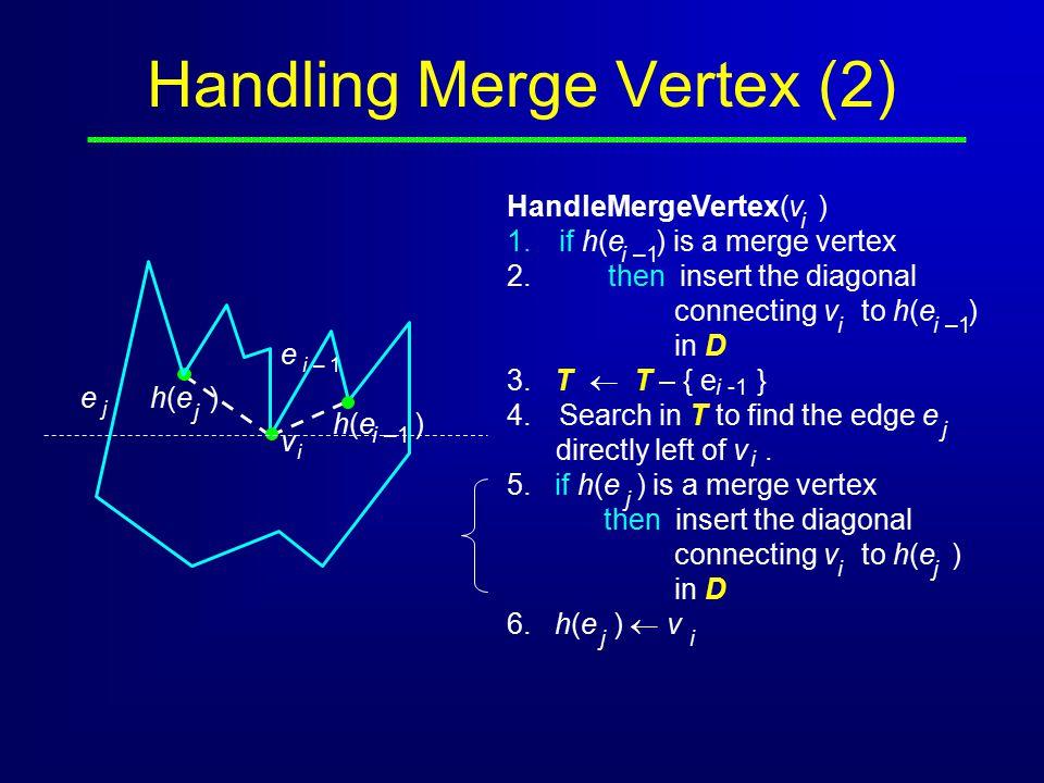 Handling Merge Vertex (2)