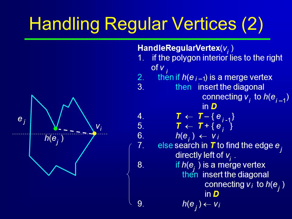 Handling Regular Vertices (2)