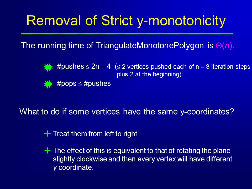 Removal of Strict y-monotonicity