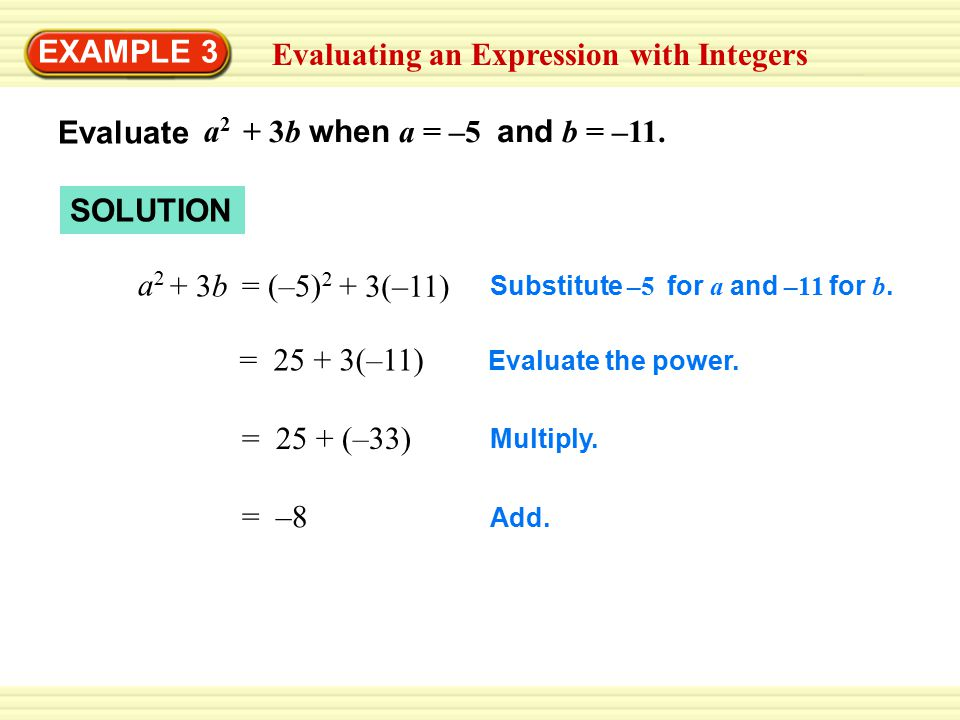 Evaluating an Expression with Integers