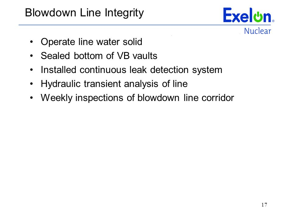 Blowdown Line Integrity