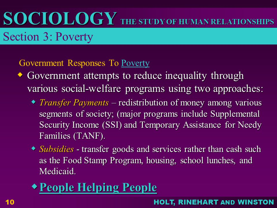 Government Responses To Poverty