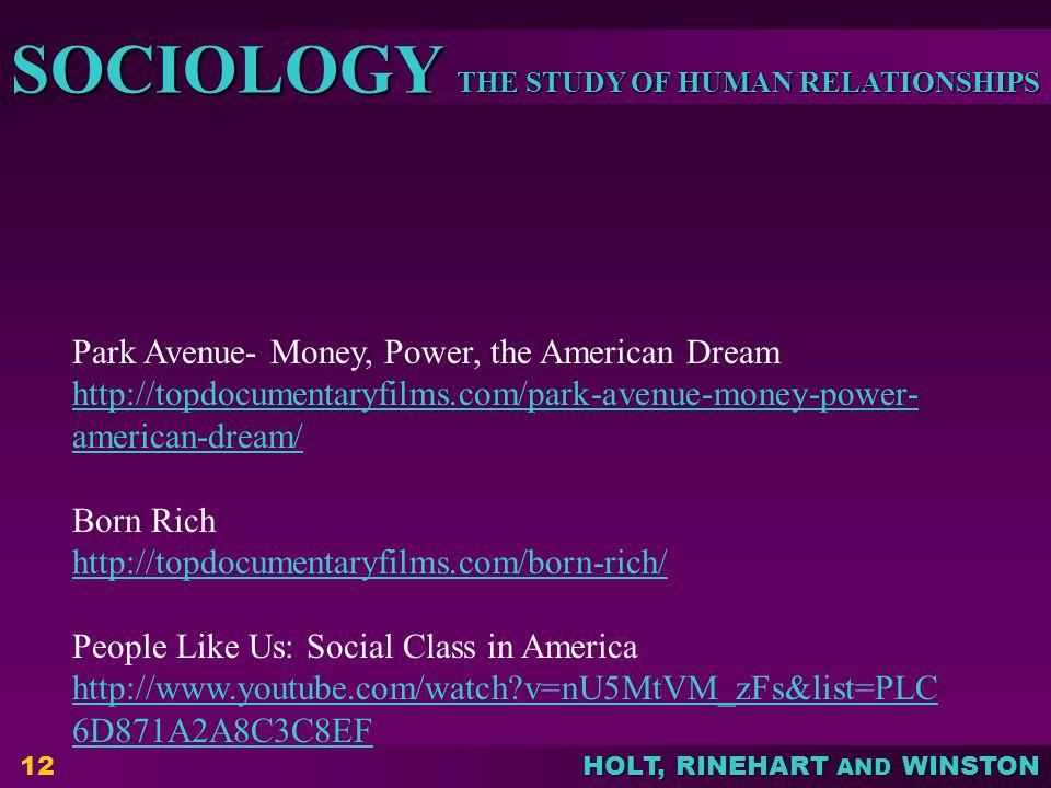 Park Avenue- Money, Power, the American Dream
