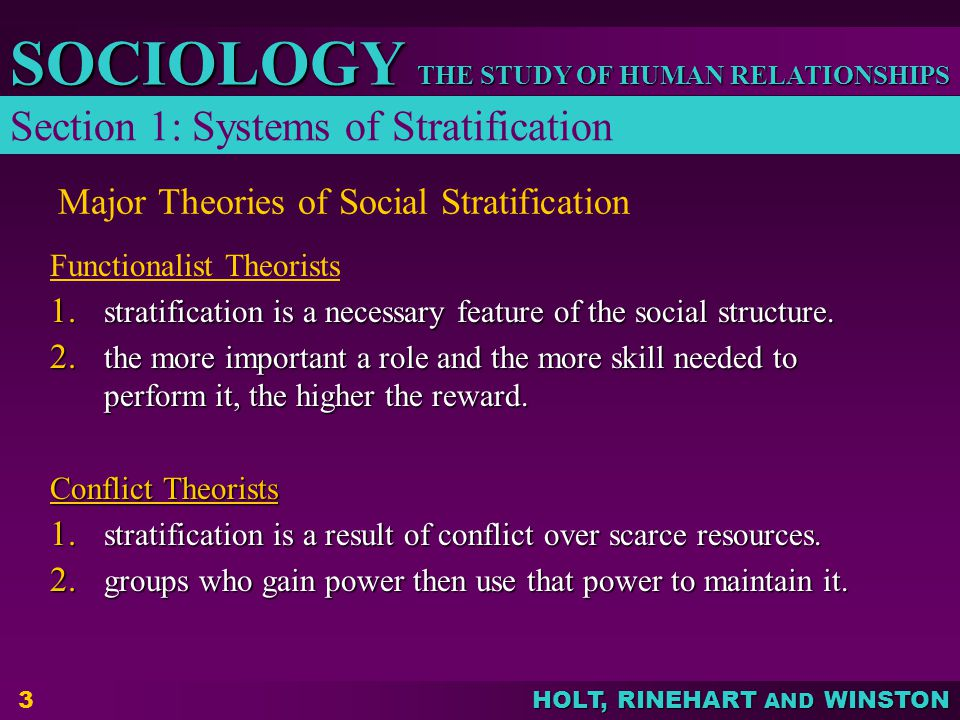 Major Theories of Social Stratification