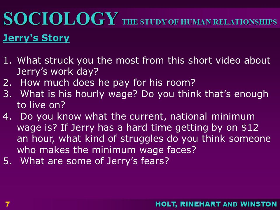 Jerry s Story What struck you the most from this short video about Jerry's work day How much does he pay for his room