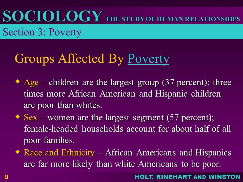 Groups Affected By Poverty