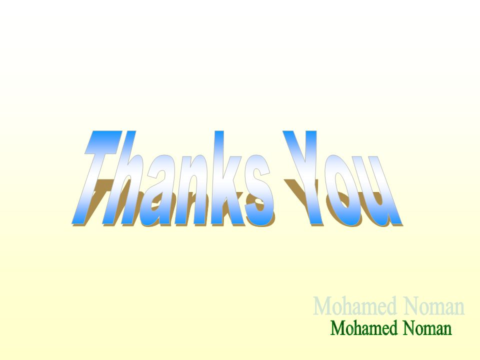 Thanks You Mohamed Noman