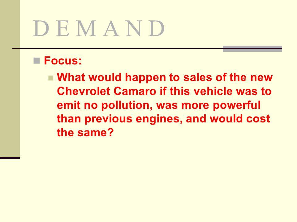 D E M A N D Focus: