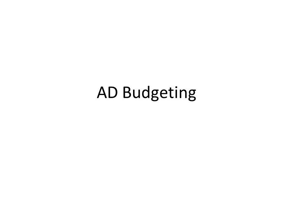 AD Budgeting