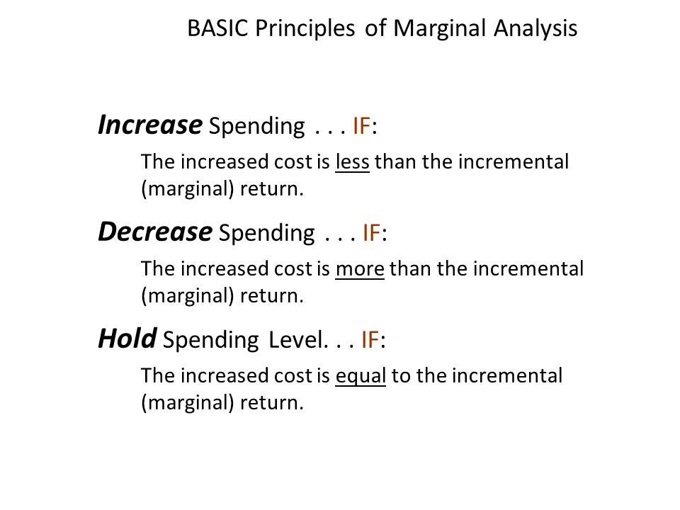 BASIC Principles of Marginal Analysis