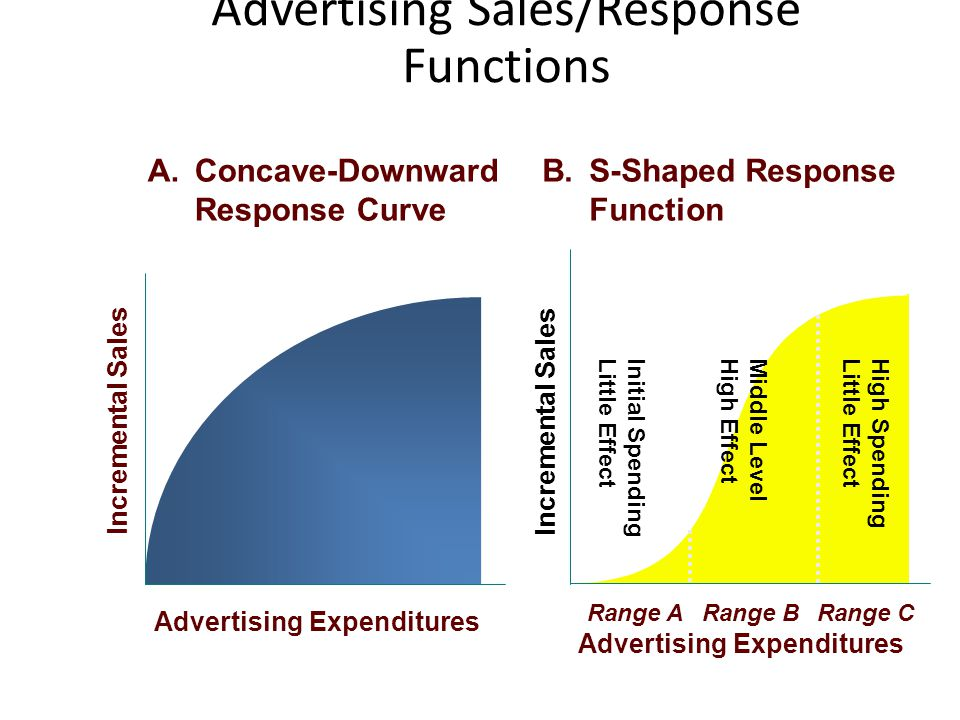Advertising Sales/Response Functions