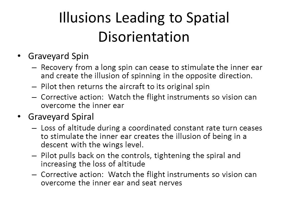 Illusions Leading to Spatial Disorientation