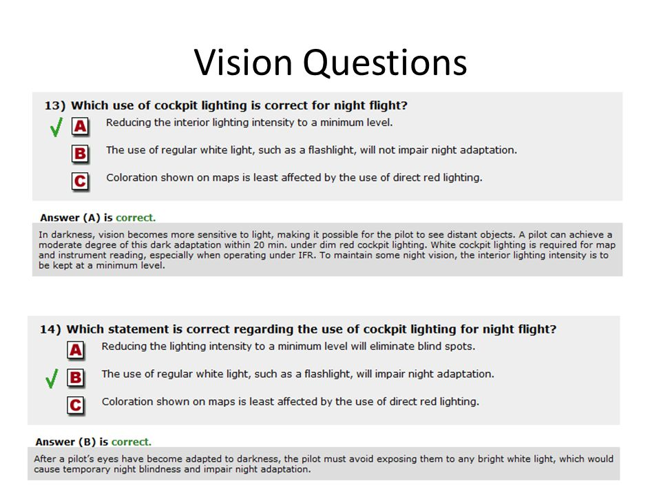 Vision Questions
