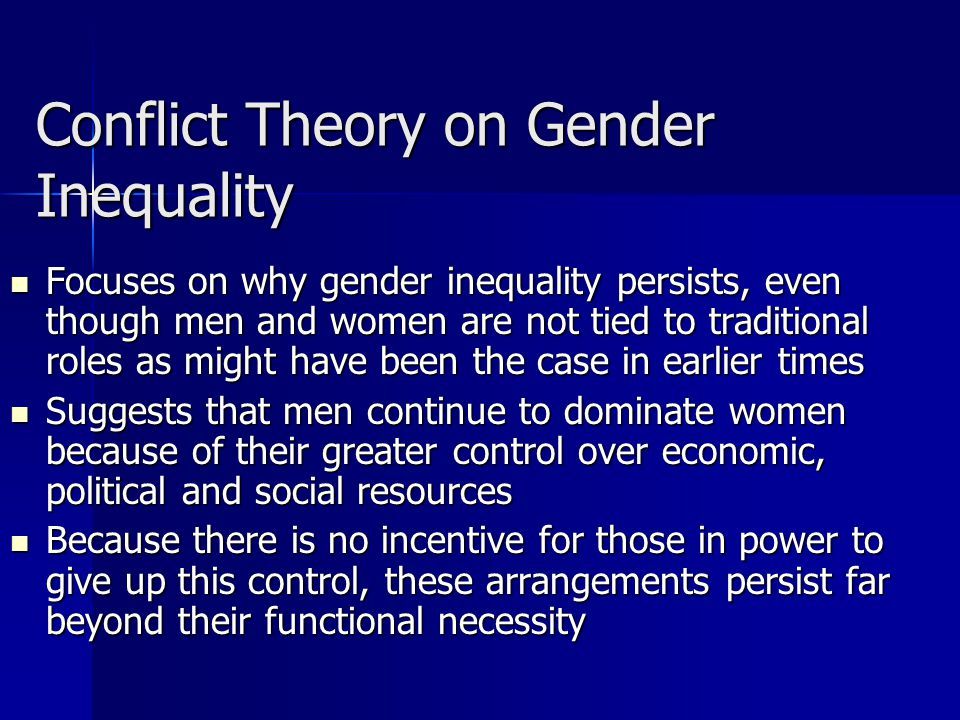 Theories relating to gender inequality