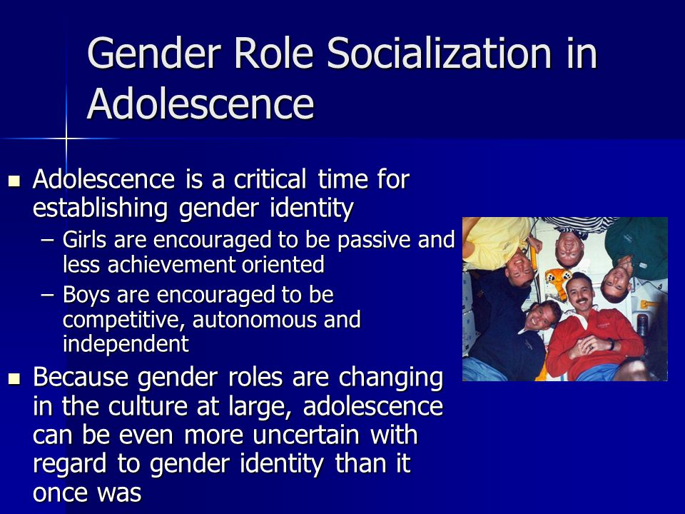 Gender Role Socialization in Adolescence