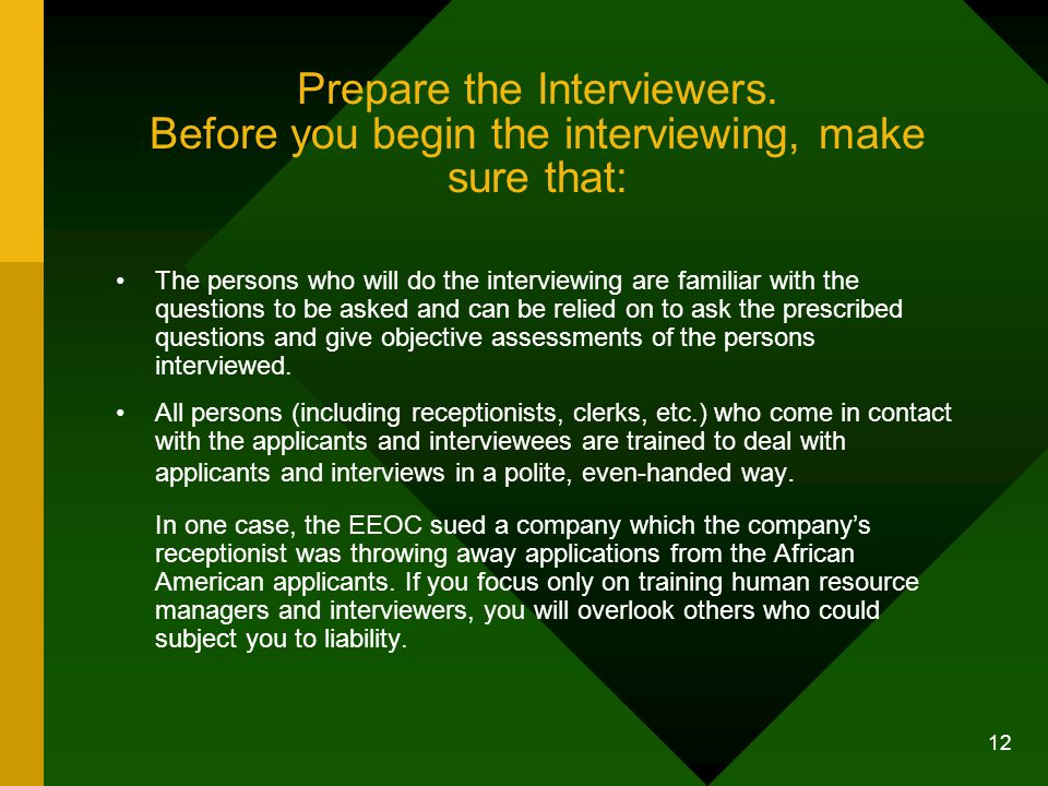 Prepare the Interviewers