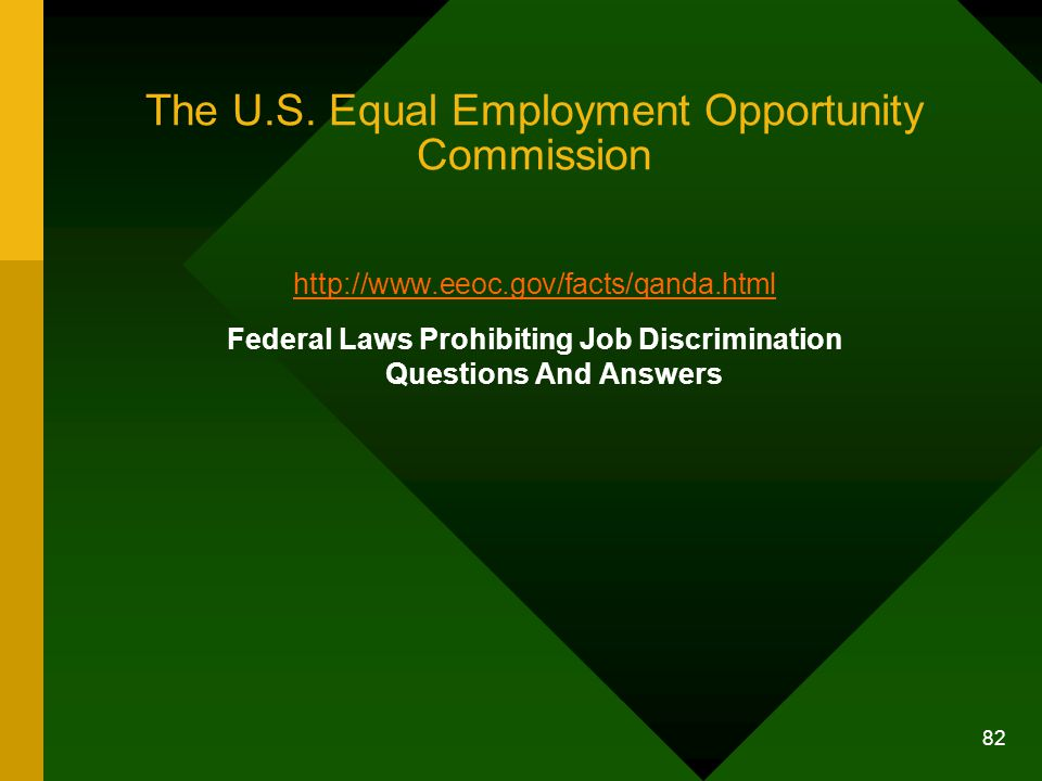 The U.S. Equal Employment Opportunity Commission