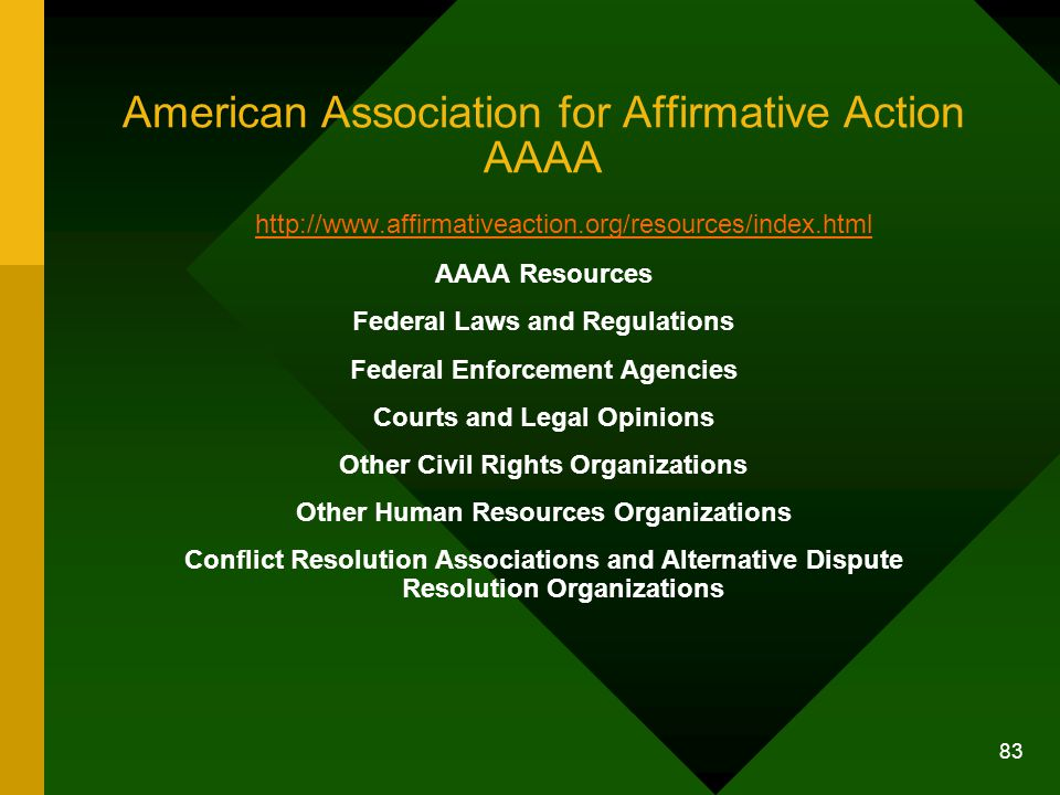 American Association for Affirmative Action AAAA