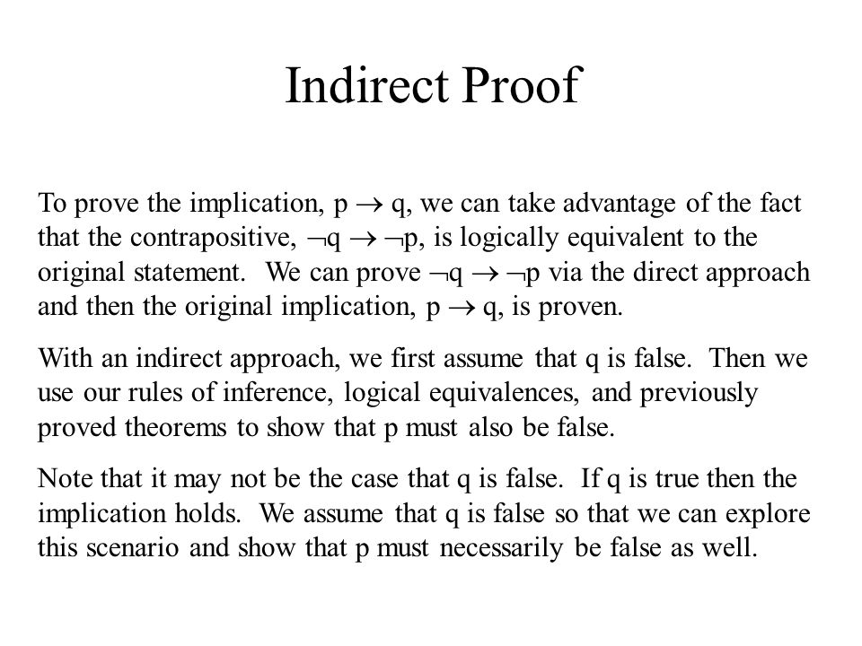 Indirect Proof